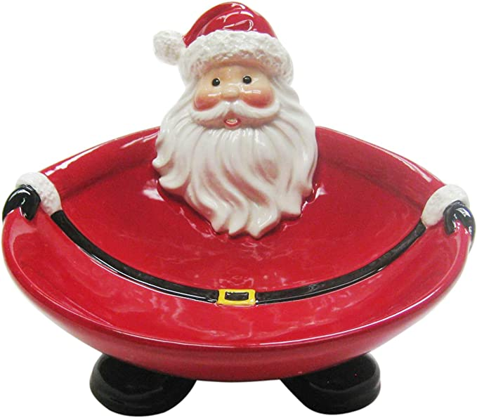 Amazon.com   Cosmos Gifts Ceramic Santa Candy Bowl, 3-5/8-Inch: Candy Dishes