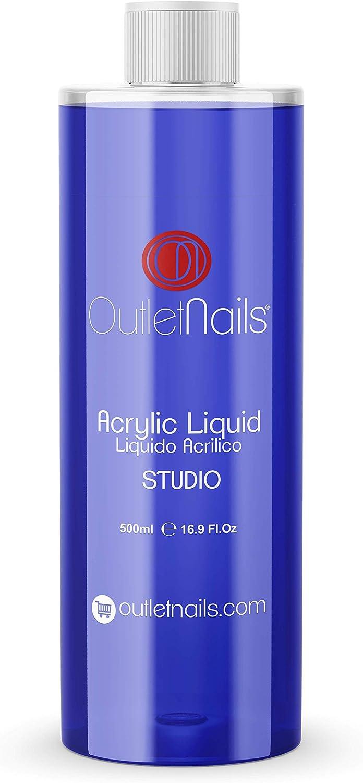 Liquido Acrilico 500ml Studio | Monomero para uñas acrílicas | Secado Medio - Rápido ideal para Centros de Uñas