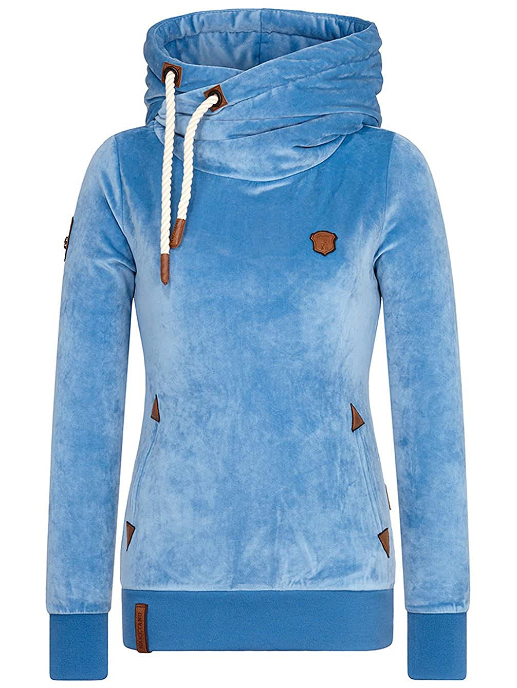 Damen Kapuzenpullover Naketano Darth Mack Hoodie, Mellow Blue, Gr. XL