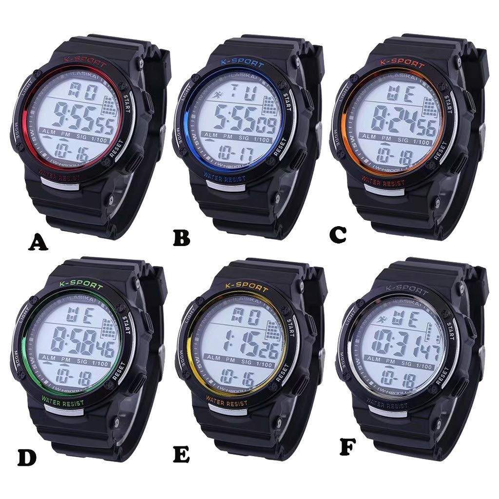 Amazon.com: Pengy Sport Watch Multicolor Luminous Waterproof Sports Watch Outdoor Fashion Electronic Watch: Watches
