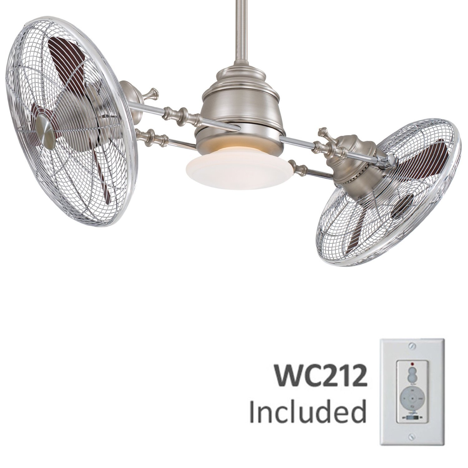 Minka Aire F802-BN/CH One Light Brushed Nickel/chrome Ceiling Fan