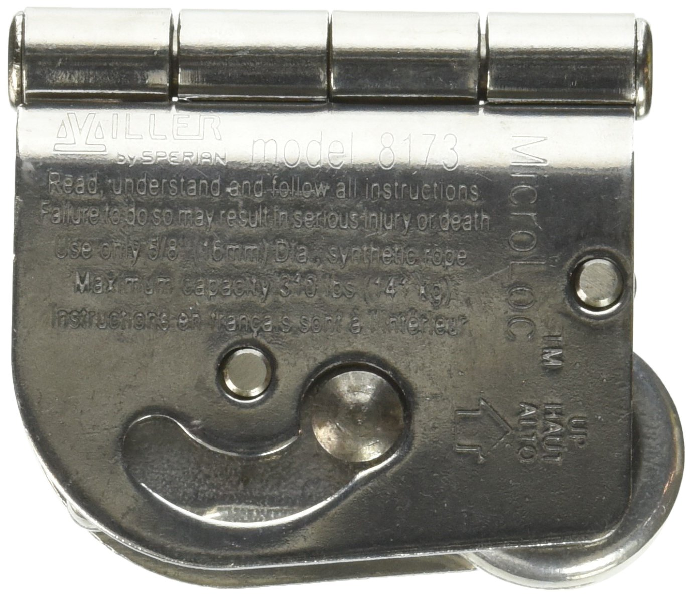 Miller by Honeywell 8173/U MicroLoc Trailing Wire Rope Grabs for 5/8-Inch Wire Rope, Universal by Honeywell (Image #4)