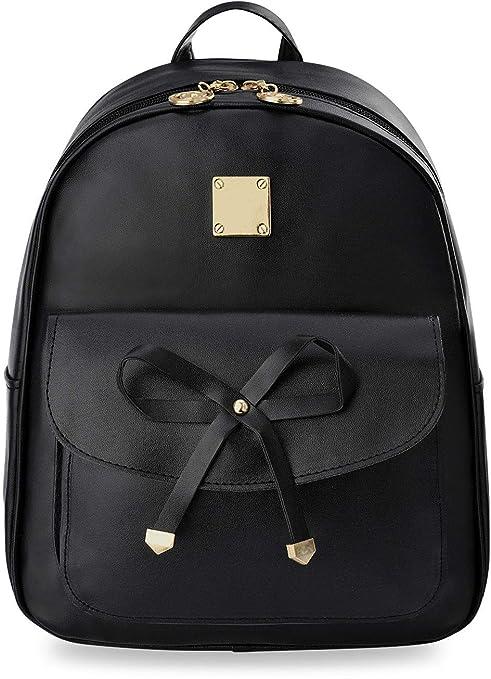 eleganter Rucksack mit Vordertasche und Schleife Damen