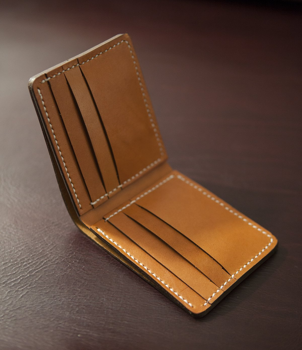 Deluxe Bifold Wallet by Oak & Honey Leather Goods
