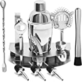 YOMYM Cocktail Bar Set Kit 12 Pieces Bar Utensils, Sets for Bar Cocktail Shaker Stainless Steel. Ideal Set for Manufacturers of Professional Drinks and Fans for Equal