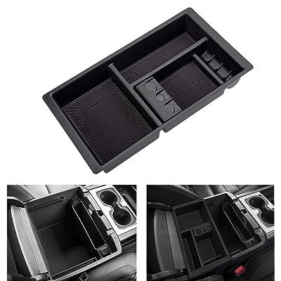 AORRO Center Console Organizer for Chevy/Chevrolet Tahoe Suburban Silverado GMC Sierra Yukon 2015-2020 ABS Tray Armrest Box Secondary Storage Full Console w/Bucket Seats ONLY (Black): Automotive