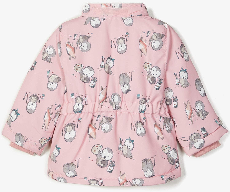 NAME IT NBFMAXI Baby Girls Winter Jacket Owl.