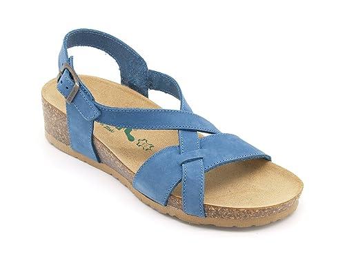 BioNatura Sandalias de Vestir Para Mujer Azul Turquesa Azul Size: 38 KCNYEIJY