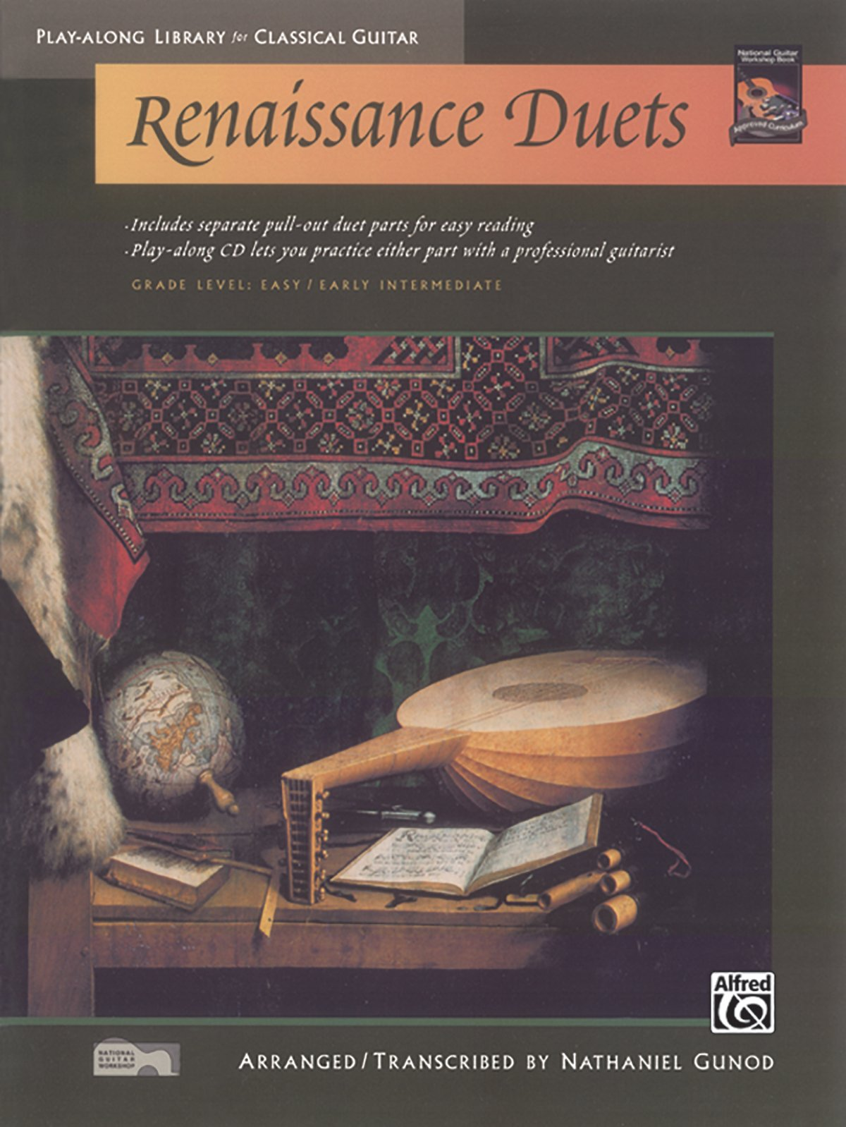 Renaissance Duets (Play-Along Library for Classical Guitar), Gunod, Nathaniel