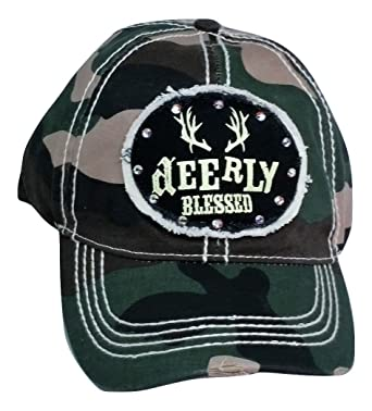 f9a21aa4e Loaded Lids Women's Deerly Blessed Bling Baseball Cap with ...