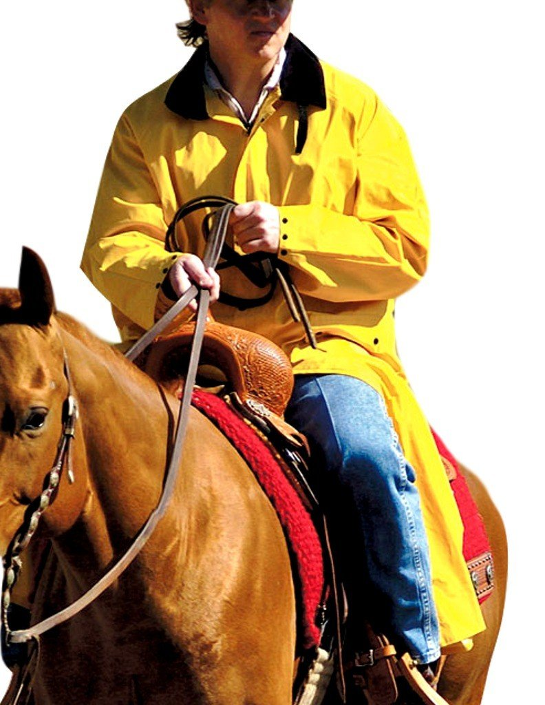 Double-s M&F Western Men's Adult Saddle Slicker (XXX-Large, Yellow) by Double-s
