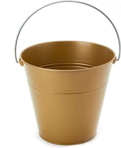 Simply Elegant (6 Pack) Extra Large Metal Bucket with Handles (10