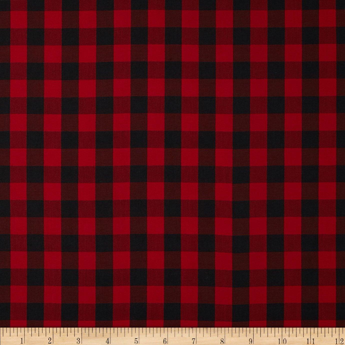 Robert Kaufman House of Wales Lawn Plaid Red Fabric by The Yard Kaufman Fabrics 0385169
