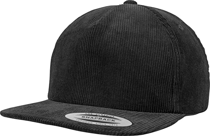 827d2536 Image Unavailable. Image not available for. Color: Flexfit Yupoong Premium  Corduroy Black Snapback Cap Kappe Baseballcap