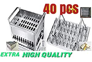 40pcs stainless steel popsicle mold machine -ice pop molds bpa free -ice Cream Mold