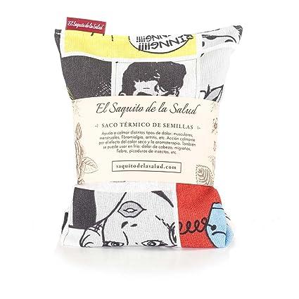 Saco Térmico de Semillas aroma Lavanda, Azahar o Romero tejido Comic (Romero, 23_cm