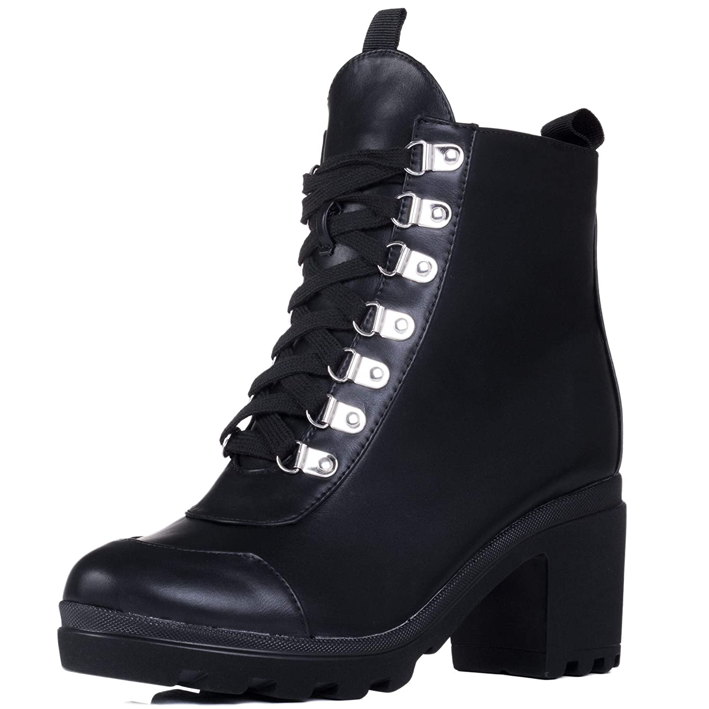 c112b33a4b3 Spylovebuy Ranger Women s Platform Block Heel Ankle Boots Shoes   Amazon.co.uk  Shoes   Bags