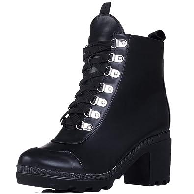 43aa3efab35 Spylovebuy Ranger Women s Platform Block Heel Ankle Boots Shoes ...
