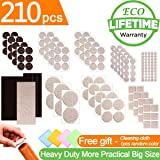 Furniture Pads Self Adhesive Felt Furniture Pads 210pcs Two Color Assorted Size Heavy Duty Furniture Felt Pads Chair Leg Floor Protectors for Furniture Feet Protect Laminate Hardwood Floors No Scratch