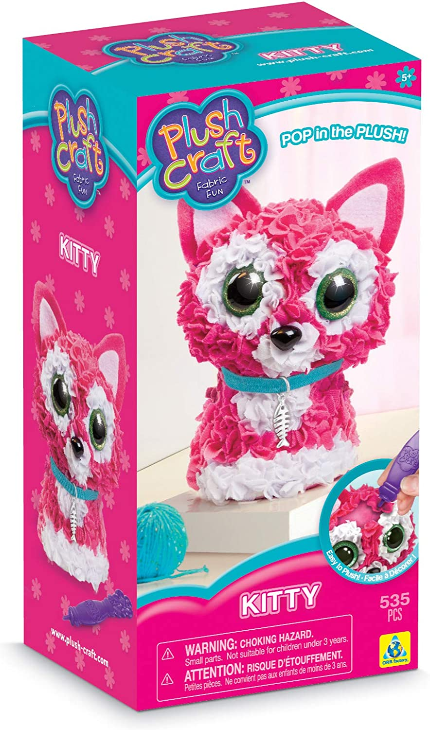 PLUSH CRAFT™ FABRIC BY NUMBER™ KITS`NUMBER CRAFTING KIT FUN FOR KIDS OR ADULTS