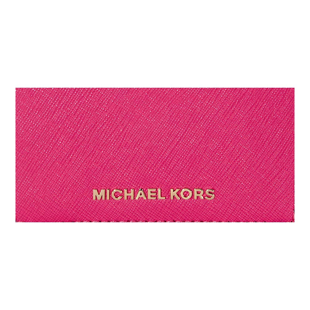 3eed6ab9eff1 Michael Kors Jet Set Travel Saffiano Leather Card Holder - Ultra Pink:  Amazon.in: Bags, Wallets & Luggage