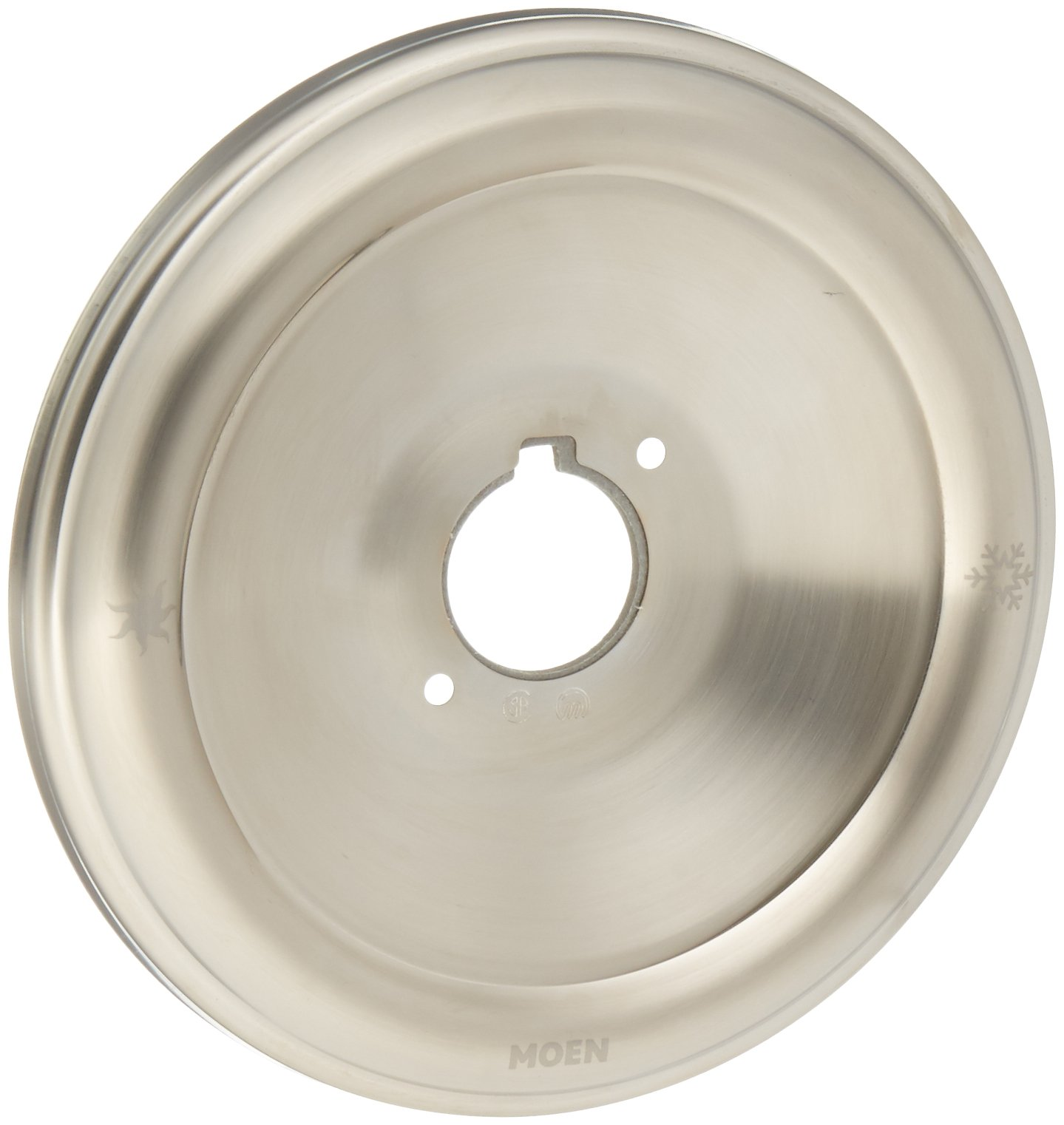 Moen 97491BN Escutcheon for Monticello Posi-Temp Single Handle Tub and Shower Faucets, Brushed Nickel