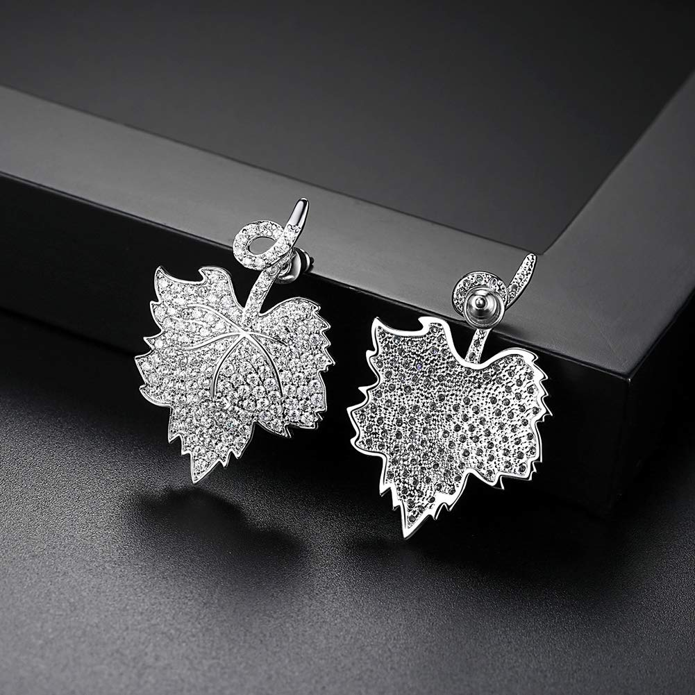 Flaming Maple Leaf Design Free Gift Wrap And Shipping Intimate Tasteful Gifts for Her /& Girlfriend /& Wife Gold Plated 2019 New Stud Earrings for Women