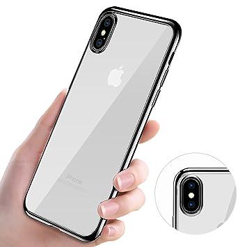 KKtick Funda iPhone XS, iPhone X Carcasa Bumper Case iPhone XS Choque Tecnología Absorción Silicona Gel TPU Flexible Piel Resistente y Anti-Arañazos ...