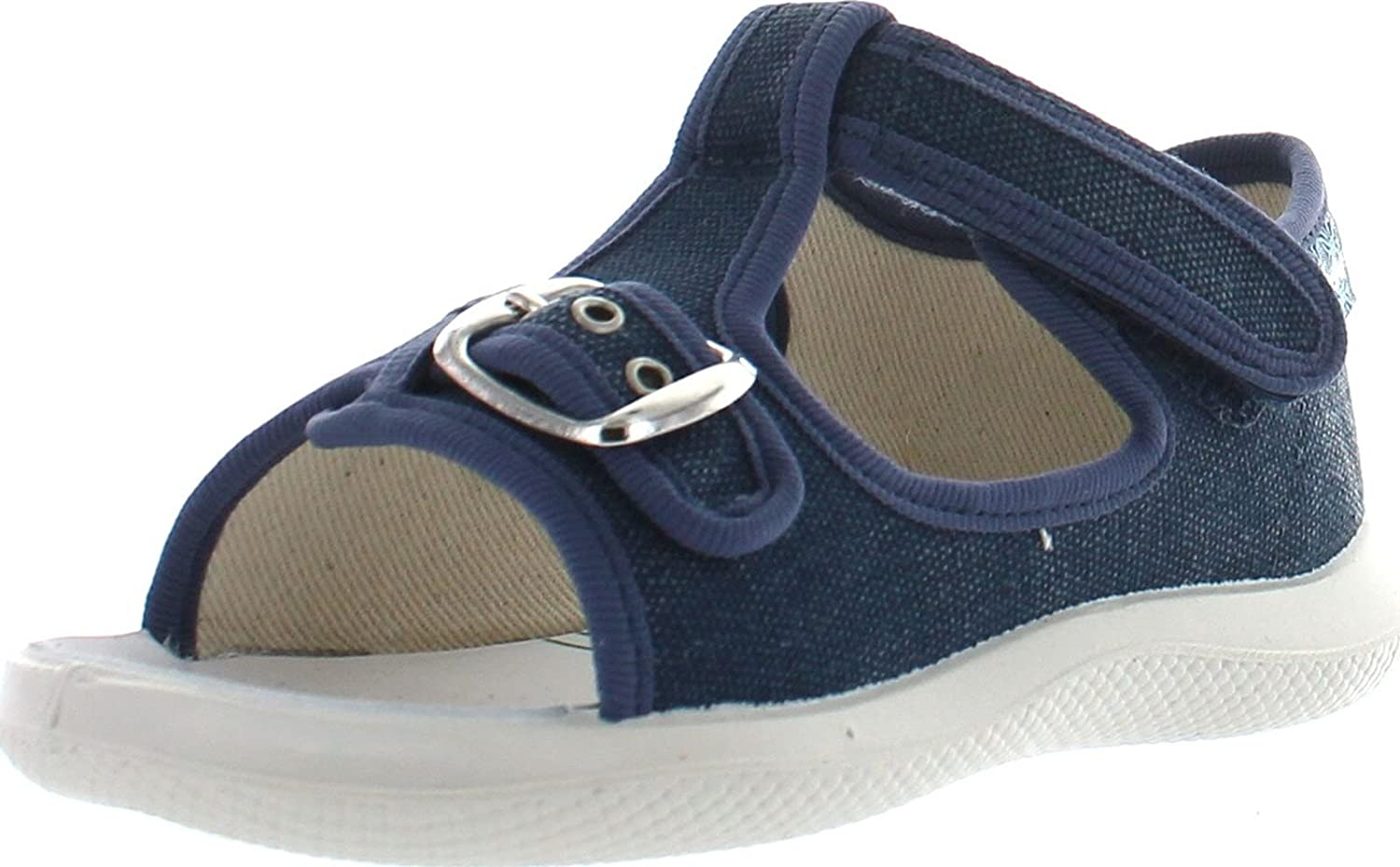 Naturino Boys 7786 Canvas Sandals with Buckle,Tela Jeans,21
