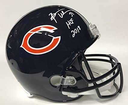 Brian Urlacher Hof 2018 Autographed Signed Chicago Bears Mini Helmet Jsa Coa Sports Mem, Cards & Fan Shop Football-nfl