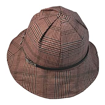 14e64b037c914d ACVIP Women's Plaid PU Band Bucket Hat Summer Sun Protection Cap (Color 1)  at Amazon Women's Clothing store: