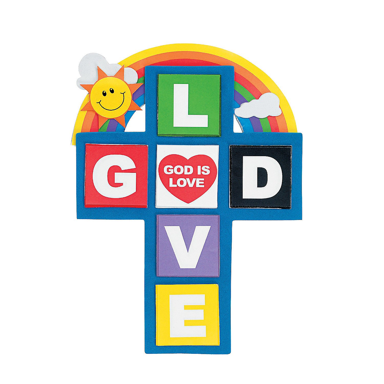 12 Pieces Magnet Fun Express Craft Kits God is Love Cross Magnet Craft Kit Stationary Craft Kits