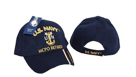 ad15cc9c12b MWS U.S Navy MCPO Master Chief Petty Officer Retired Blue Cap (Licensed)  cap551C 4