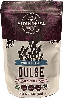 product image for VITAMINSEA Organic Dulse Whole Leaf - 1.5 OZ - Raw Atlantic Seaweed Vegan Certified (DW1.5)