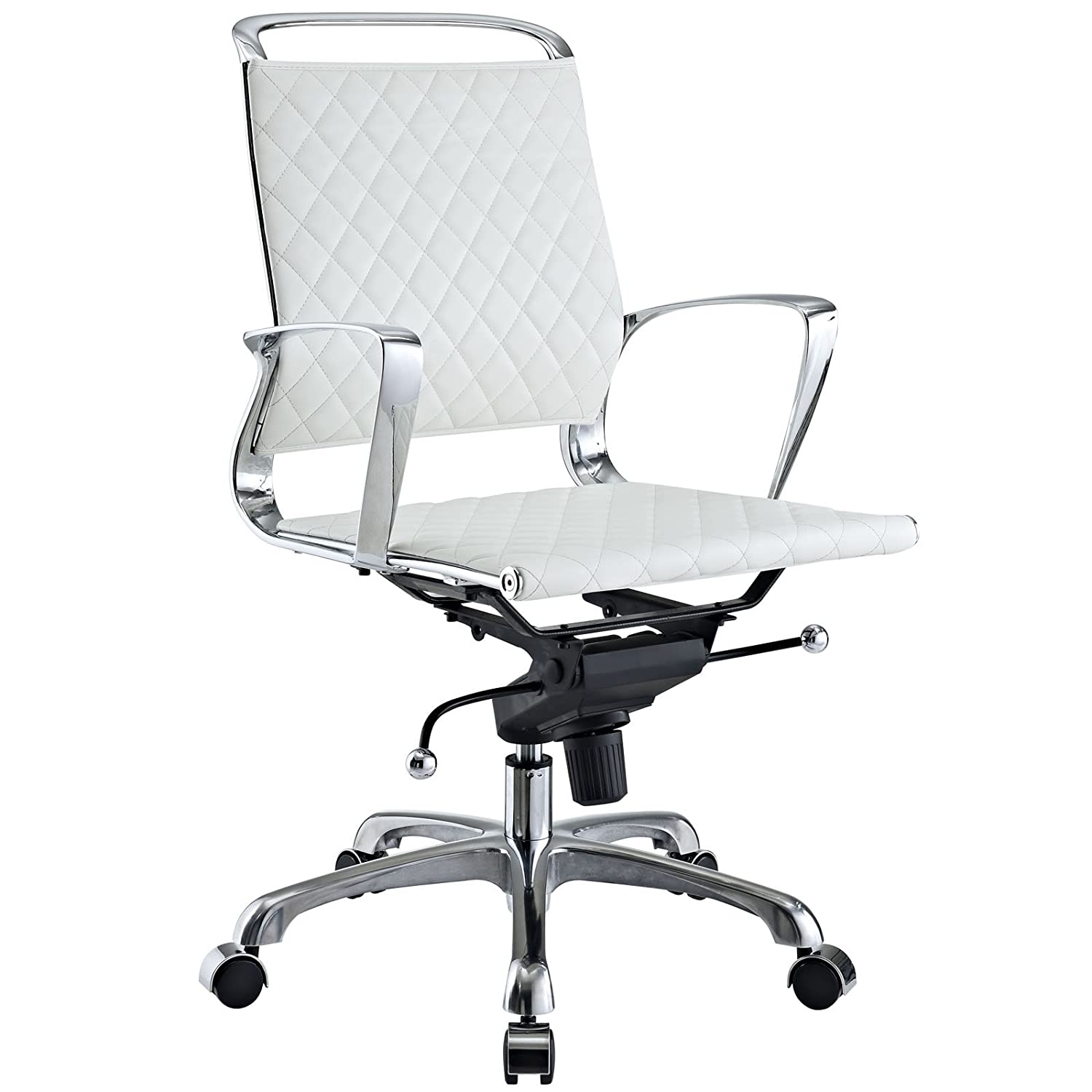 Amazon Modway Vibe Modern Leather Midback fice Chair White
