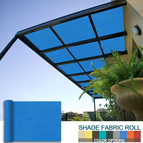 Coarbor 16Ft x 74Ft Patio Pergola Shade Cover Cloth Fabric Roll for Shade Greenhouse Deck Gazebo Porch Customized Sun Block UV Resistant Make to Order- Blue