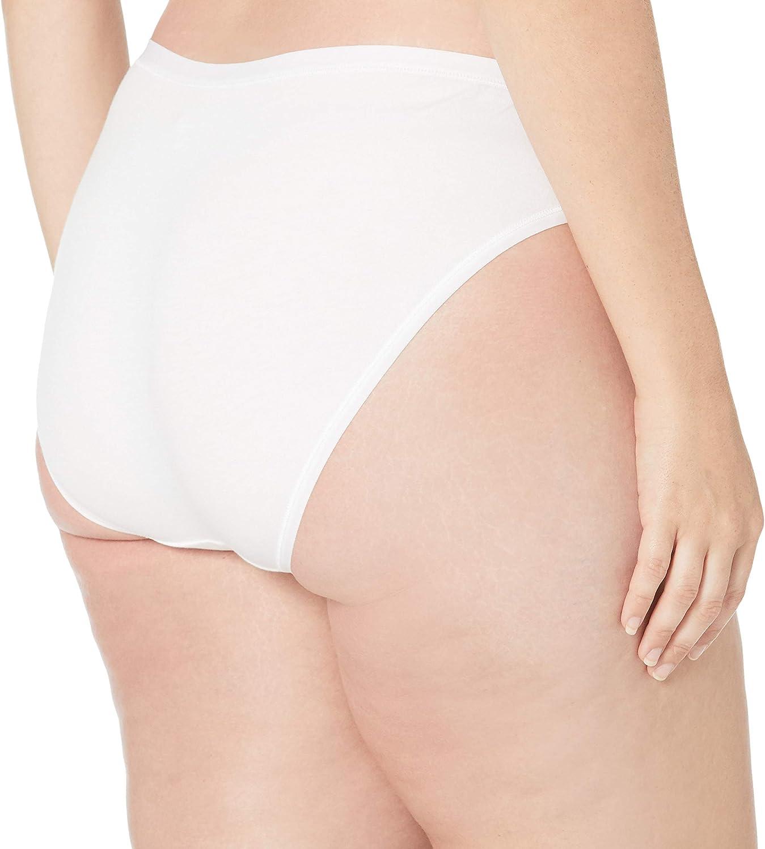 Essentials Women's Plus-Size 6-Pack Cotton Stretch Bikini Underwear: Clothing