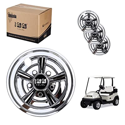 10L0L Golf Cart Wheel Covers 8 Inch Set of 4, Wheel Caps for Standard Golf Cart Rims,Fit for EZGO,Yamaha,Club Car: Sports & Outdoors
