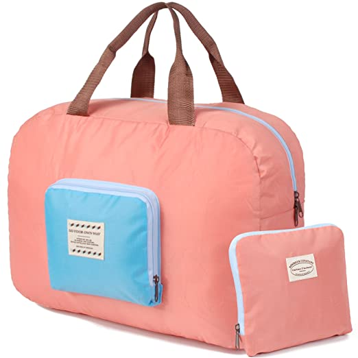 Packable Carry on Bag Travel Tote Sports Gym Duffle Weekender Waterproof  for Women and Girls c92b61037b