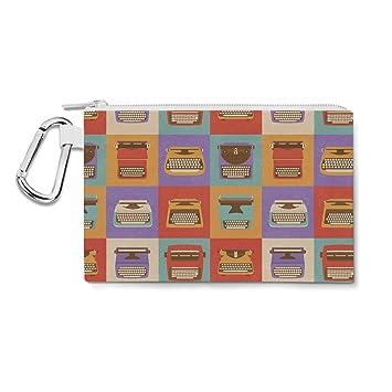 Retro máquinas de escribir lienzo bolsa Zip - multiusos Estuche Bolsa en 6 tamaños, color multicolor XL Canvas Pouch 12x9 inch: Amazon.es: Oficina y ...