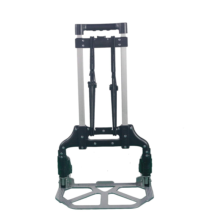 Sackkarre Aluminium Transport und Sackkarre klappbare Handkarre Transportkarre mit ausziehbarem Griff belastbar bis 80 kg inklusive 2 x 1.4M Expanderseil mit Haken