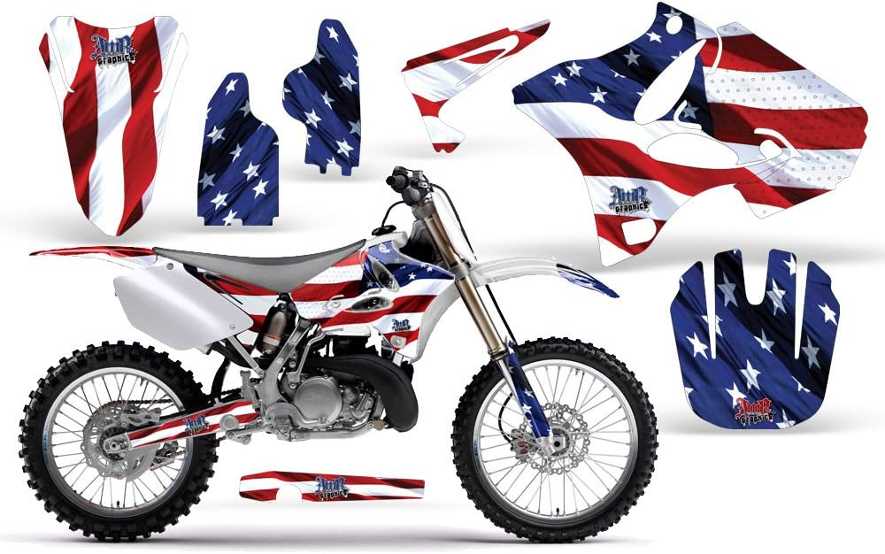 Mad Hatter-AMRRACING MX Graphics decal kit fits Yamaha YZ 125//250 -Blue-Yellow-ST 1996-2001