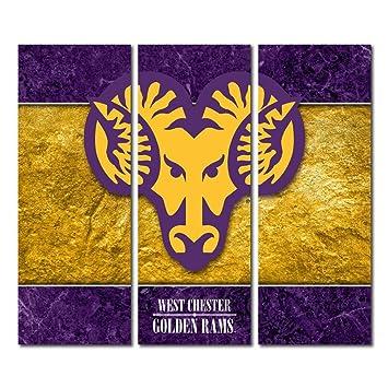 Amazon.com : West Chester University Golden Rams Triptych Canvas ...