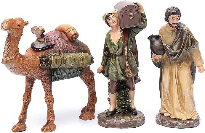 Crèches personnages animaux chameau avec bagages pour personnages environ 7 cm