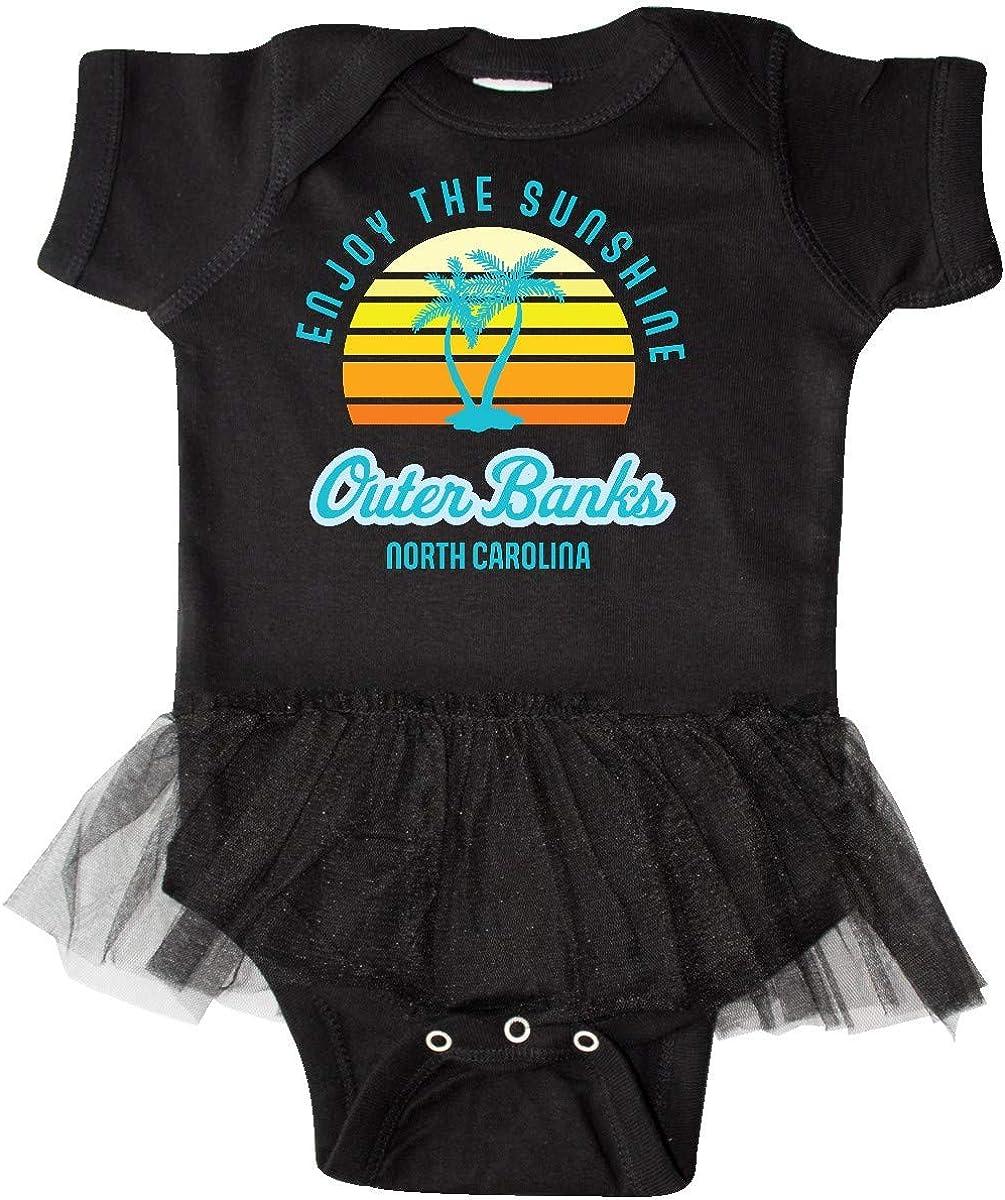inktastic Summer Enjoy The Sunshine Outer Banks North Infant Tutu Bodysuit