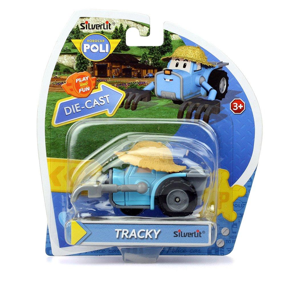 Robocar Poli Trackey Diecasting Non Transformer Toys Mainan 1 Set Games