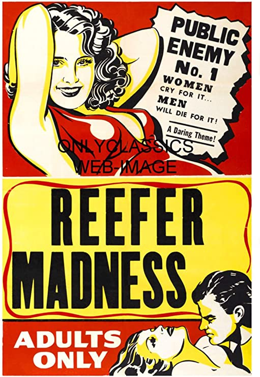 "/""The Burning Question/"" 1940/'s Reefer Vintage Style Movie Poster 24x36"