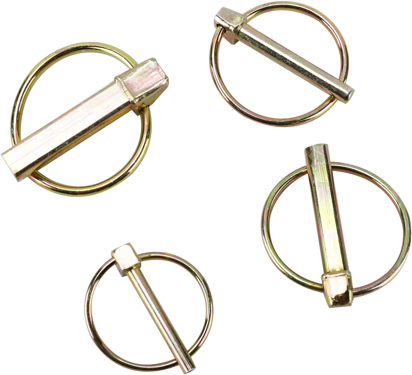 DasMarine 50 PCS Heavy Duty Tractor Linch Pin,Linch Pin with Ring for Farm Trailers Wagons Tractor Trolley Horsebox Lawn Garden,3//16 Dia,1//4 Dia,5//16 Dia,7//16 Dia.