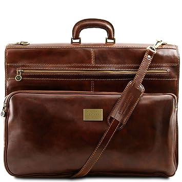 Tuscany Leather - Papeete - Porta Trajes en Piel Marrón - TL3056/1 ...