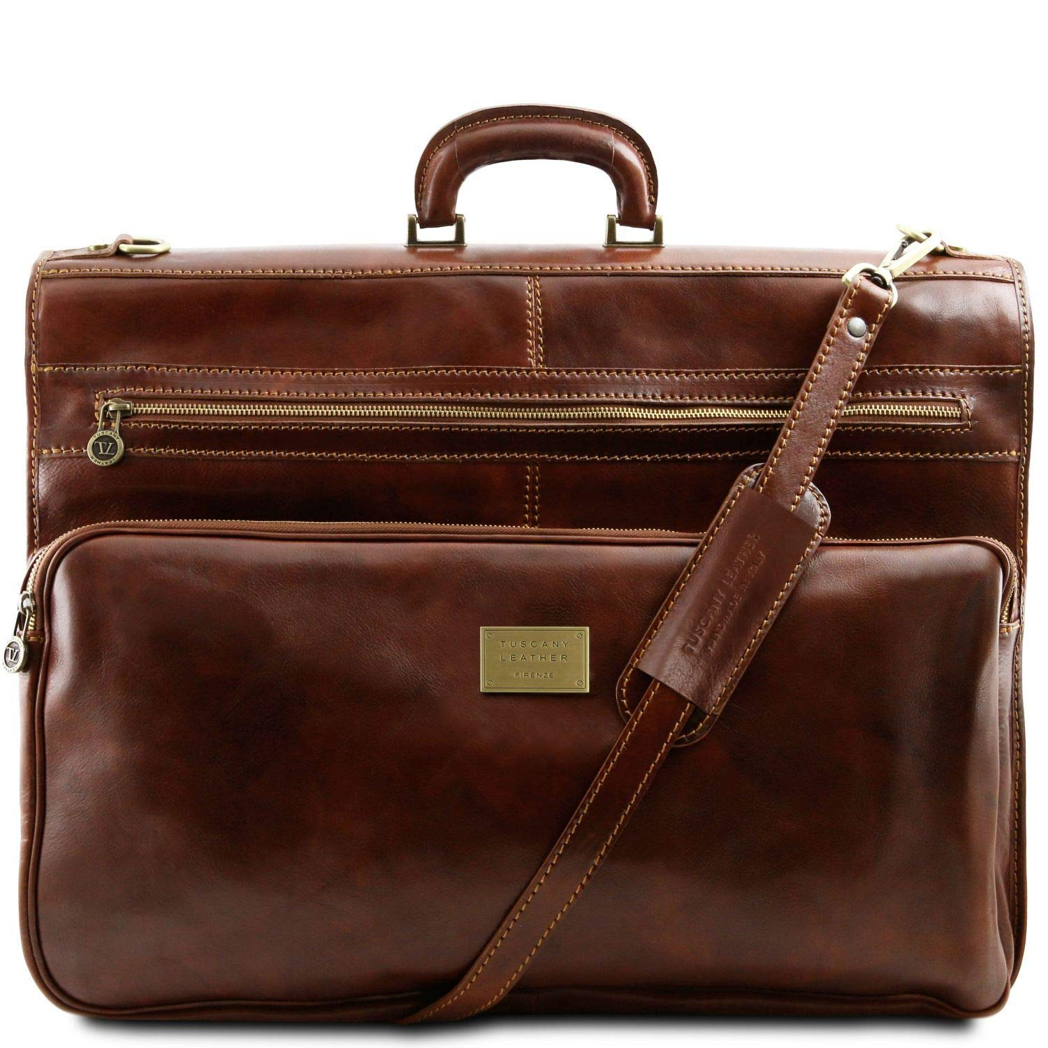 Tuscany Leather - Papeete - Garment leather bag Brown - TL3056/1